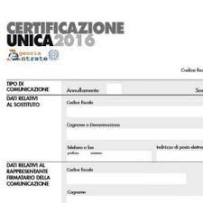 certificazione unica 2016 inps
